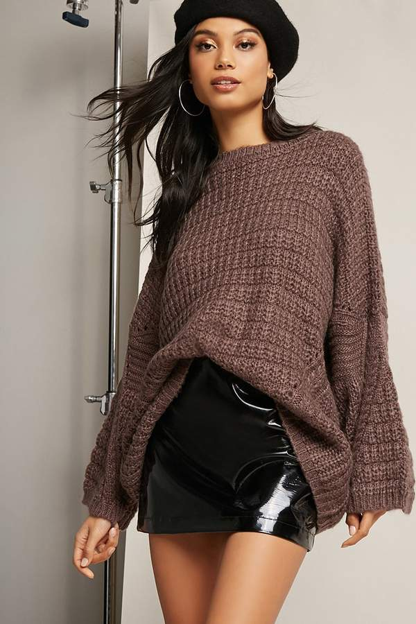 FOREVER 21 Oversized Ribbed Knit Sweater
