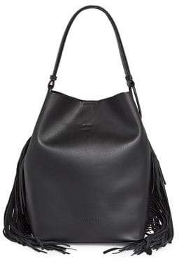 Calvin Klein Fringe Top Handle Bag