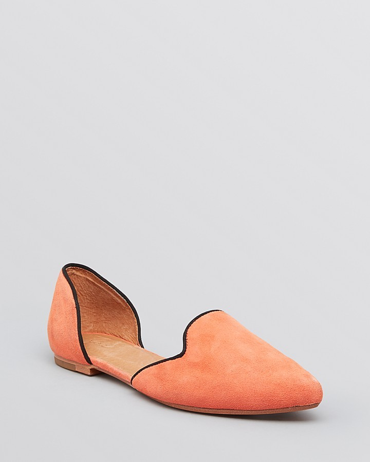 Joie Pointed Toe D'Orsay Flats - Florence
