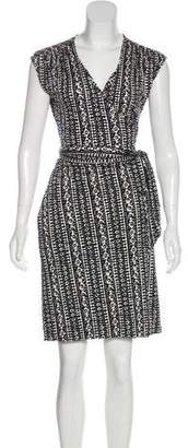 Tory Burch Knee-Length Wrap Silk Dress