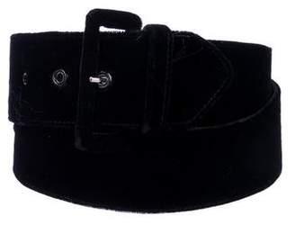Valentino Velvet Buckle Belt