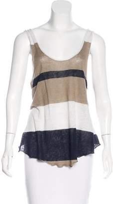 Enza Costa Striped Linen Top