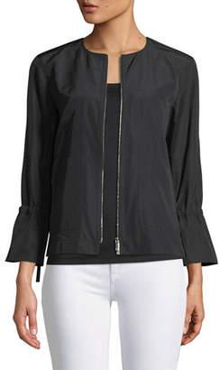 Lafayette 148 New York Johnsie Empirical Tech Cloth Zip Jacket, Plus Size