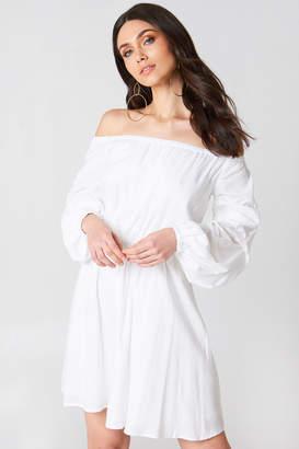 Hannalicious X Na Kd Off Shoulder Ballon Sleeve Dress