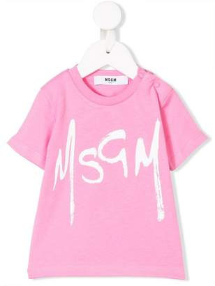 MSGM Kids painted logo top