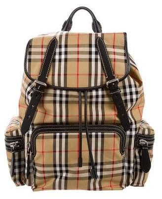 Burberry Vintage Check Large Rucksack Backpack
