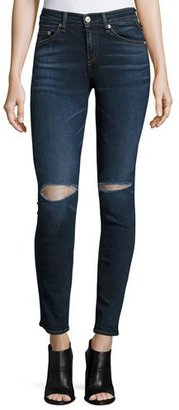 rag & bone/JEAN Mid-Rise Distressed Skinny Jeans, Vashon $250 thestylecure.com
