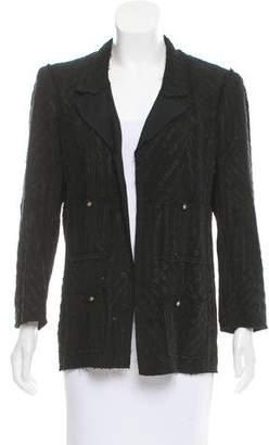 Chanel Structured Silk-Tiered Jacket