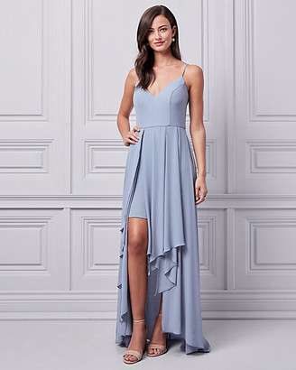 Le Château Crêpe de Chine High-Low Gown
