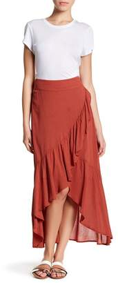 Wild Pearl Ruffle Maxi Skirt $28.97 thestylecure.com