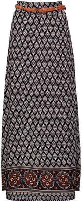 Dorothy Perkins Womens *Izabel London Navy Print Maxi Skirt