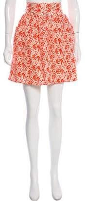 Loeffler Randall Silk Floral Skirt w/ Tags