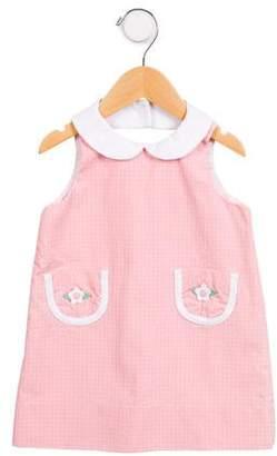 Florence Eiseman Girls' Window Check Sleeveless Dress