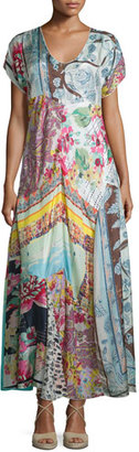 Johnny Was Printed Georgette Maxi Dress, Plus Size $365 thestylecure.com