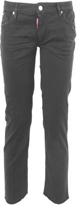 DSQUARED2 Dyed Cropped Twiggy Jeans