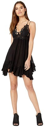 b86fb10dc208 Free People Black Slip Dress - ShopStyle