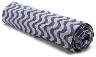 Frescobol Carioca - Copacabana Wave Jacquard Linen Towel - Mens - Navy