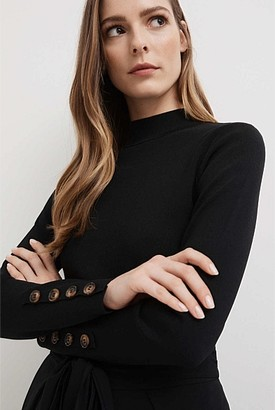 Witchery Extended Neck Button Knit
