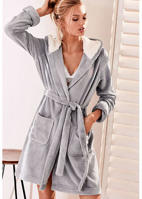 Victorias Secret The Cozy Hooded Short Robe $58.50 thestylecure.com