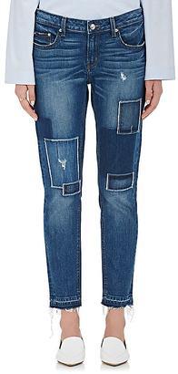 Derek Lam 10 Crosby Women's Mila Patchwork Boyfriend Jeans $295 thestylecure.com