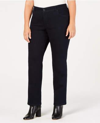 80bdfc7b966 Style   Co Plus   Petite Plus Size Tummy Control Straight-Leg Jeans