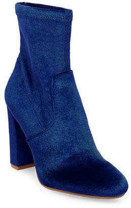 Steve Madden Brisk Velvet Ankle Boots $99 thestylecure.com