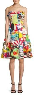 Moschino Graphic Mini Fit-&-Flare Dress