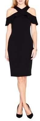 Rachel Roy Jolie Cross-Front Ruffle Dress