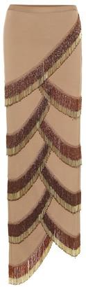 Y/Project Beaded asymmetric skirt