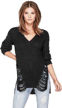 Factory Guess Women's Linza Destroyed Sweater