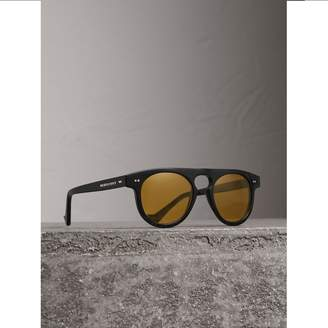 Burberry The Keyhole Round Frame Sunglasses