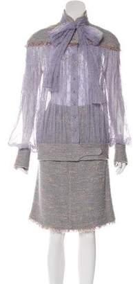 Chanel Lace Bouclé Skirt Set