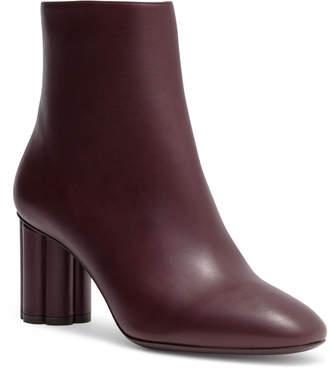 Salvatore Ferragamo Molfetta 70 leather burgundy booties