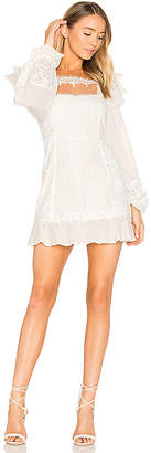 For Love & Lemons Crema Silk Linen Dress in White $299 thestylecure.com