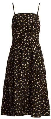 Hvn - Nora Moon Print Silk Slip Dress - Womens - Black Multi