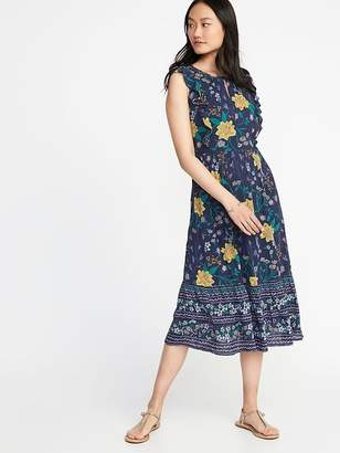 Old Navy Sleeveless Waist-Defined Midi Dress for Women