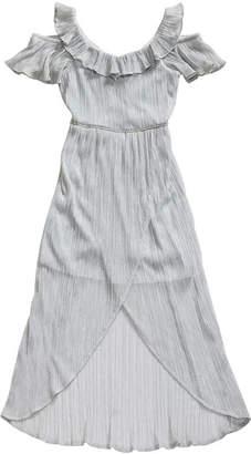 EMILY WEST Emily West Short Sleeve Cold Shoulder Sleeve Maxi Dress - Big Kid Girls