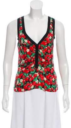 Dolce & Gabbana Strawberry Printed Sleeveless Top