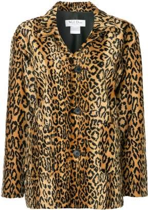 we11done leopard faux fur jacket
