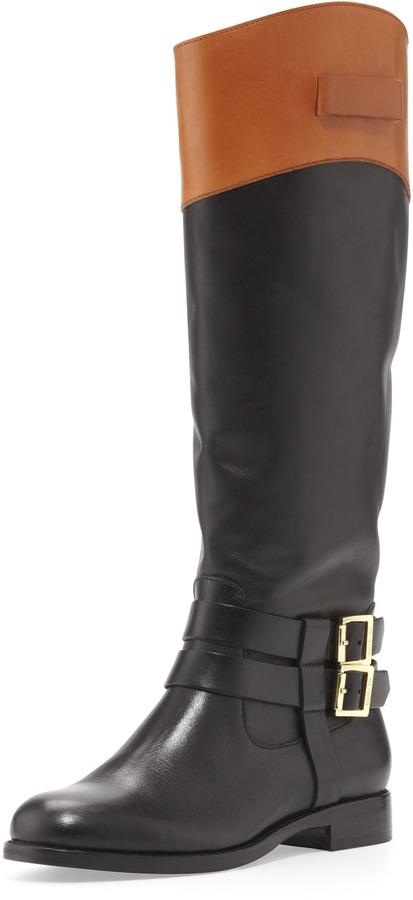 Rachel Zoe Grayson Riding Boot, Black/Honey
