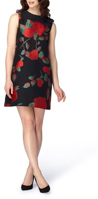 Women's Tahari Rose Jacquard Shift Dress $138 thestylecure.com