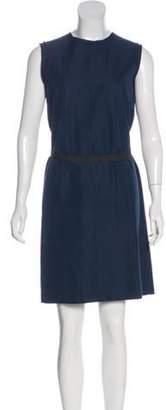 Lanvin Belted A-Line Dress black Belted A-Line Dress