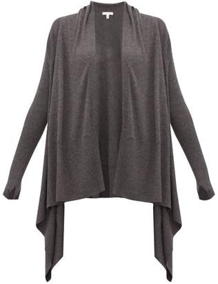 Skin - Mineta Waterfall Hem Wool Blend Cardigan - Womens - Dark Grey
