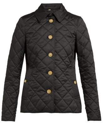 Burberry Frankby Quilted Gabardine Jacket - Womens - Black