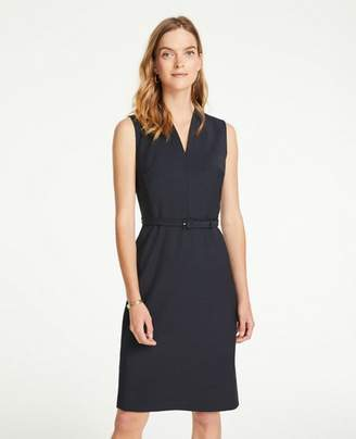 Ann Taylor Tropical Wool Belted Sheath Dress