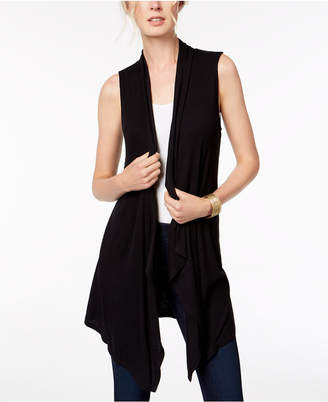 INC International Concepts I.n.c. Ribbed Open-Front Vest, Created for Macy's