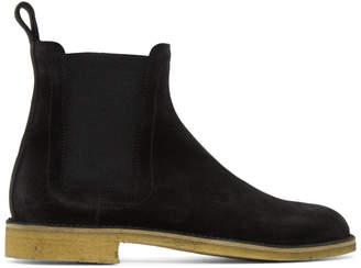 Bottega Veneta Black Classic Chelsea Boots