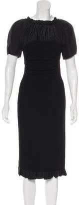 Nina Ricci Short Sleeve Midi Dress