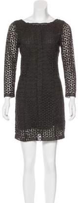 Diane von Furstenberg Long Sleeve Crocheted Dress