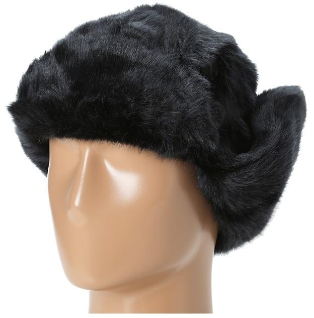 Hat Attack Faux Fur Trapper (Black) - Hats